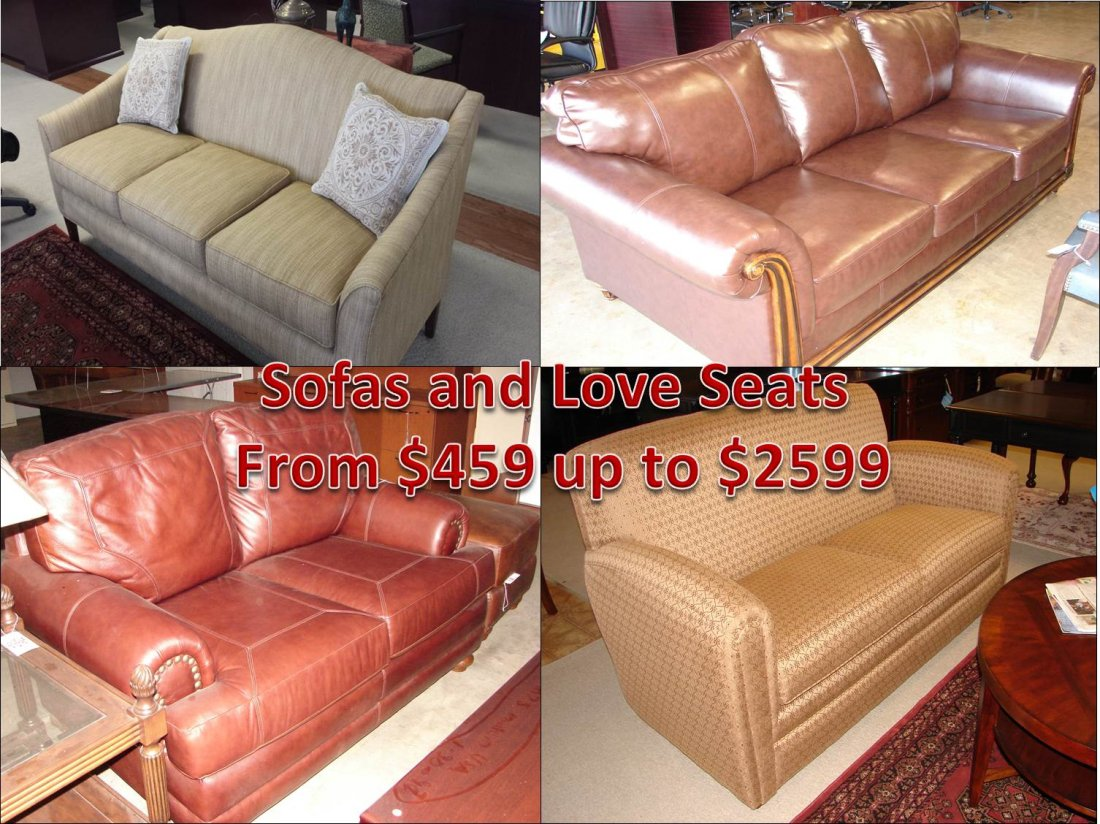 Reception Or Executive Furniture Available In Leather Cloth Love Seats Sofa Lengths Solids Patterns